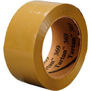 3M 369 Tan 2 inches x 110 Yards Box Sealing Tape Tartan, 6 per box 6 boxes per case Bulk