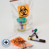 6x9 2Mil Minigrip Lab Guard Biohazard Specimen Transport Bags