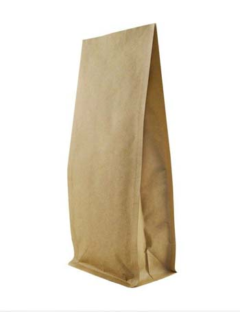16 oz Block Bottom Side Gusset Bags with KRAFT ALU LLDPE