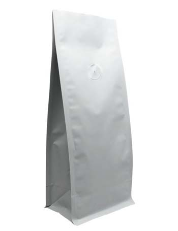 16 oz Block Bottom Side Gusset Bags with valve with MBOPP PET ALU LLDPE