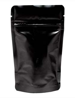 1 oz Stand Up Pouch Black PET/ALU/LLDPE