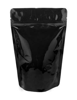 12 oz Stand Up Pouch Black PET/ALU/LLDPE