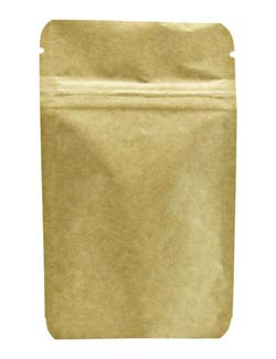 1 oz Metalized Stand Up Pouch Kraft KRAFT/VMPET/LLDPE