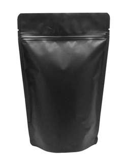 16 oz Stand Up Pouch Matte Black MBOPP/PET/ALU/LLDPE