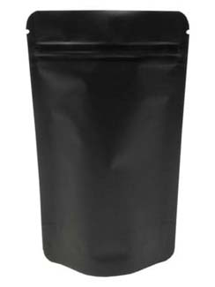 2 oz Stand Up Pouch Matte Black MBOPP/PET/ALU/LLDPE