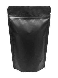 8 oz Stand Up Pouch Matte Black MBOPP/PET/ALU/LLDPE