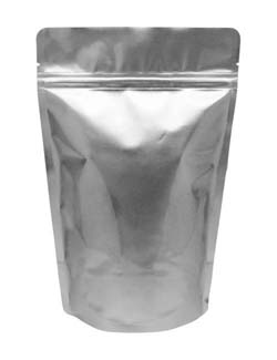 16 oz Stand Up Pouch Silver PET/ALU/LLDPE
