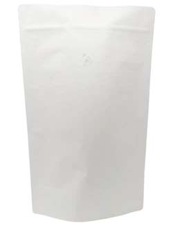 5 lb Stand Up Pouch with valve White Kraft WHITE KRAFT/PET/ALU/LLDPE