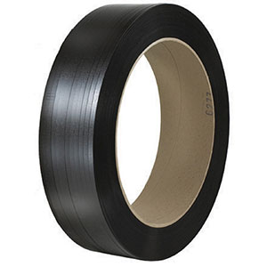 5/8x0.025x2200 black hand grade polyester strapping
