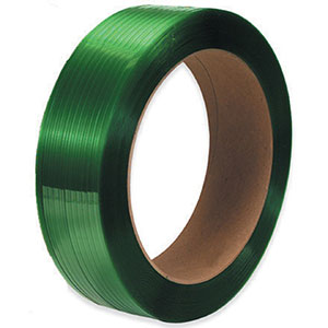 5/8x0.025x4400 green hand grade polyester strapping