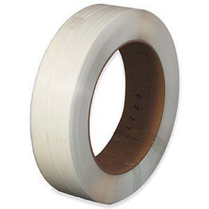 3/8x0.024x12900 white machine grade poly strapping
