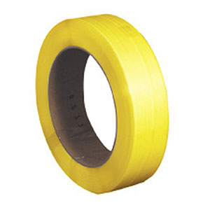 3/8x0.024x12900 yellow machine grade poly strapping