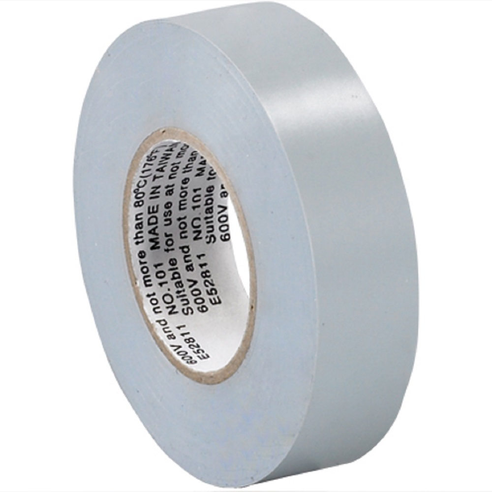3 4 In X 20 Yds 7 Mil Gray Electrical Tape