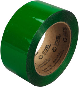 3M Green 371 Scotch Box Sealing Tape, 2 Inches x 110 Yards