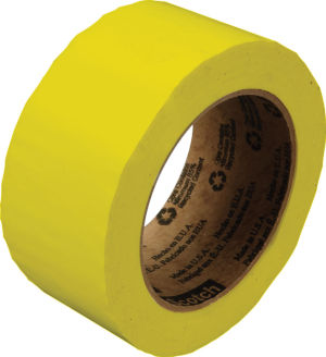 3M Yellow 371 Scotch Box Sealing Tape, 2 Inches x 110 Yards