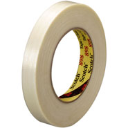 3M 898 Scotch Filament Tape Clear 1/2  inch x 60 yard