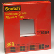 3M 898 Scotch Filament Tape Clear, 3/4 inch x 60 yard in Package