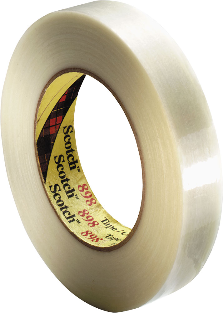 x 60 yds. 3//4 in Clear 3M Scotch 897 Filament Strapping Tape