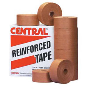 72mm x 450 yds kraft central 250 reinforced water activated tape