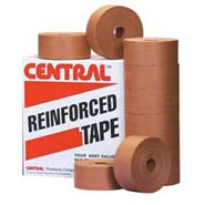 72mm x 450 yds kraft central 255 reinforced water activated tape