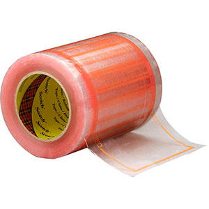 Scotch Pouch Tape 827 Clear/Orange, 6 in x 10 in, 8 rolls per case  Bulk