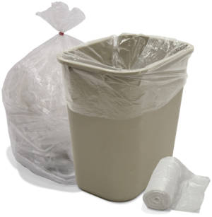 12-16 Gallon High Density Coreless Trash bags .24 Mil
