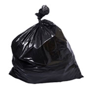 20-30 Gallon .65 Mil Regular Duty Black LLDPE Trash Bags 30x36