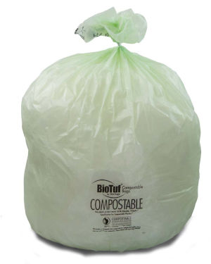 30 Gallon Green 30 x 39 Eco Friendly Trash Bags