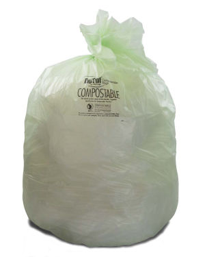 32 Gallon Green 34 x 48 Eco Friendly Trash Bags