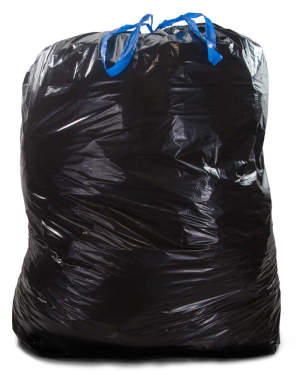 44 Gallon Black 37 x 47 Drawstring Trash Bags