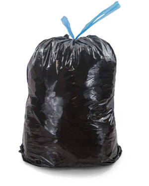 8-10 Gallon Black 24 x 30 Drawstring Trash Bags