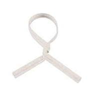 4 white plastic twist ties