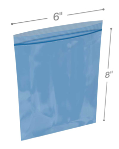 6x8 reclosable vci bags