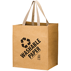 13 x 10 x 15 + 10 Washable Paper Grocery Bags Screen Print