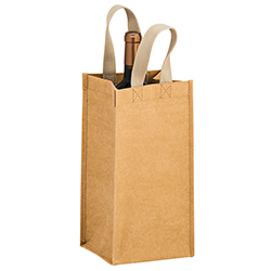 6 x 6 x 12.5 + 6 Washable Paper Wine Bags