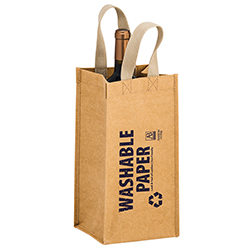 6 x 6 x 12.5 + 6 Washable Paper Wine Bags Screen Print