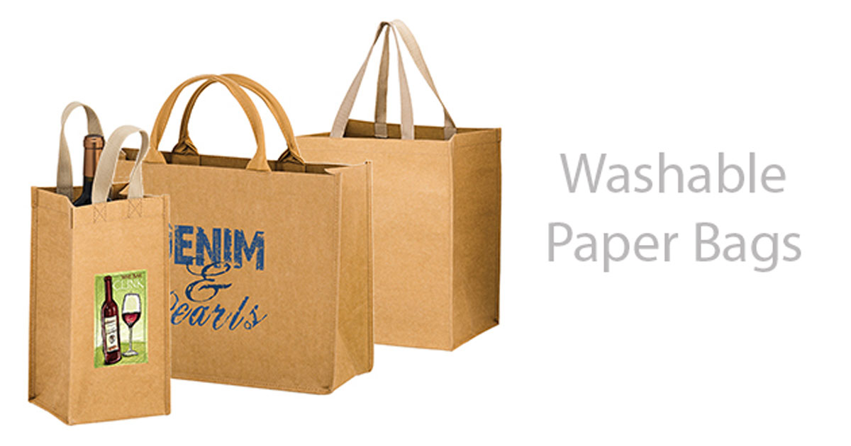 picture about Printable Paper Bags identified as â™» Washable Paper Baggage and Totes -