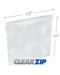10 x 10 Clearzip® Lock Top 2 Mil Bags