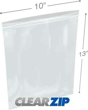 10 in x 13 in 4 Mil Clearzip® Lock Top Bags