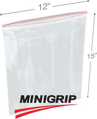 12x15 4Mil Reclosable MiniGrip Poly Bag