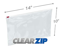 14x10 3 Mil Slider Lock Zip Bags