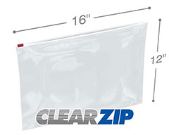 16x12 3 Mil Slider Lock Zip Bags