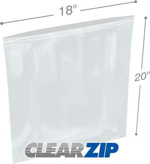 3x3 Clearzip® Lock Top 4 Mil Bags