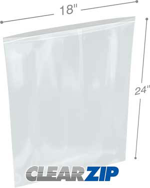 18x20 Clearzip® Lock Top 4 Mil Bags