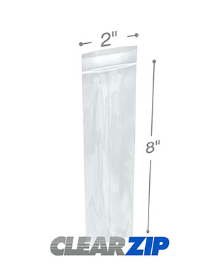 2 x 8 Clearzip® Lock Top 2 Mil Bags