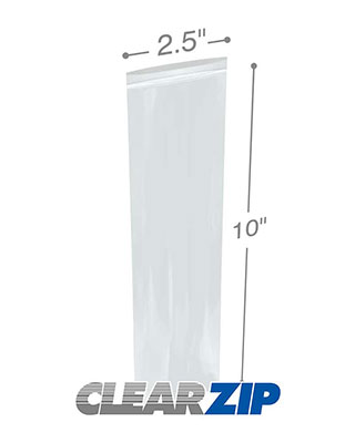2.5 x 10 Clearzip® Lock Top 2 Mil Bags