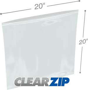 20x20 Clearzip® Lock Top 4 Mil Bags
