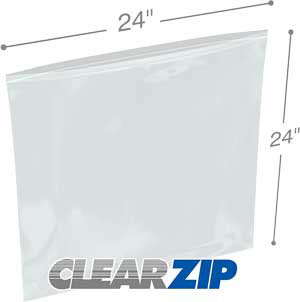 24x24 Clearzip® Lock Top 4 Mil Bags