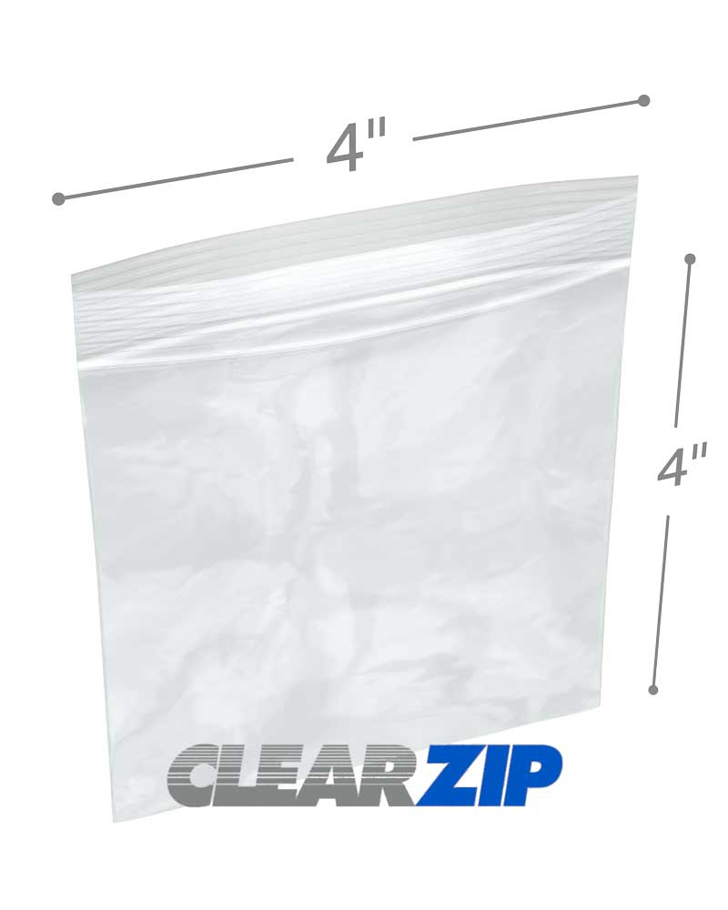 4 X 002 Clearzip Lock Bags