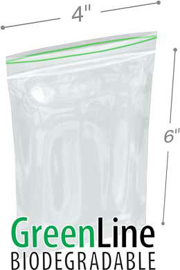 Minigrip 4 in x 6 in 2 Mil Biodegradable Reclosable Bags